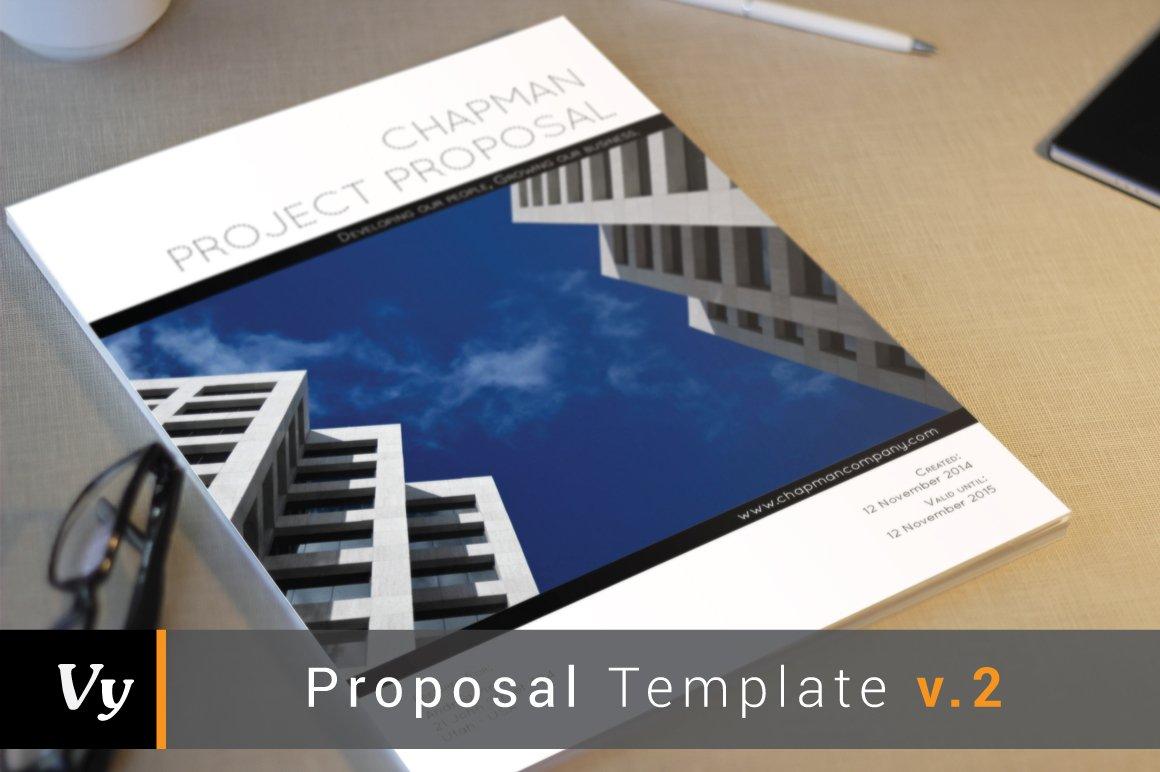 business proposal template brochure templates creative market. Black Bedroom Furniture Sets. Home Design Ideas