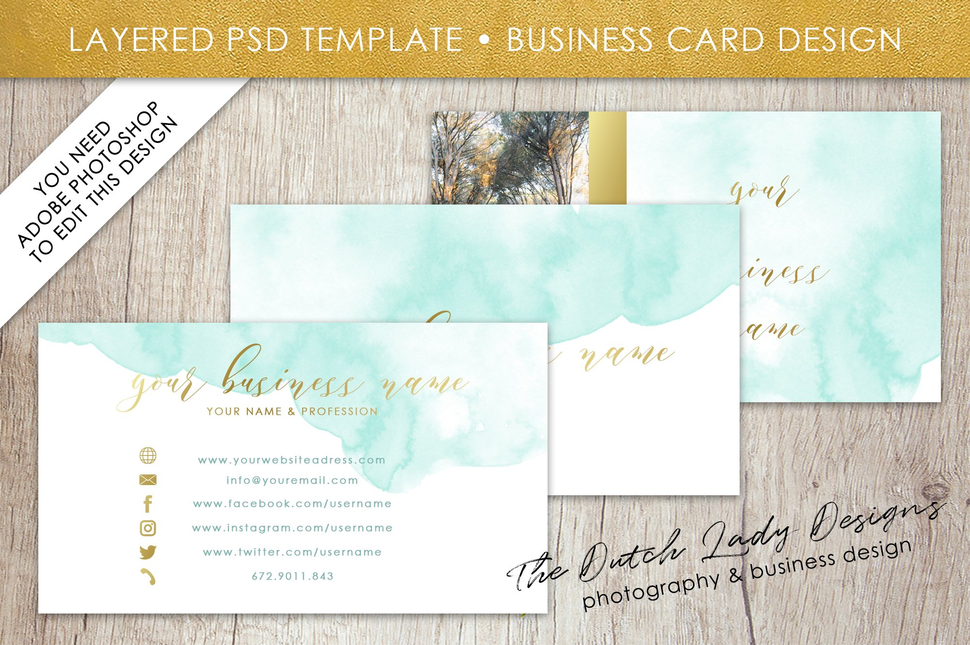 photoshop business card template 1  business card