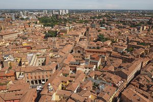 Aerial view of Bologna