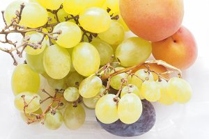 grape apricot and prune fruit