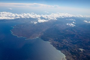 Aerial view of Corsica