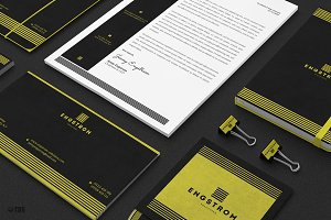 Black and Yellow Corporate Identity