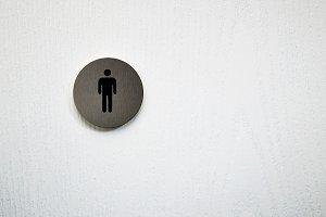 toilet(restroom) men symbol