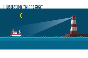 "illustration ""Night Sea"""