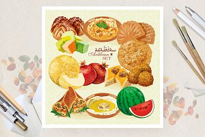 Arabian cuisine set