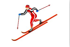Cross-country Skiing Clipart