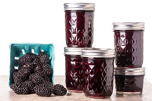 Blackberries and jam