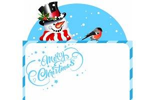 Snowman, Merry Christmas