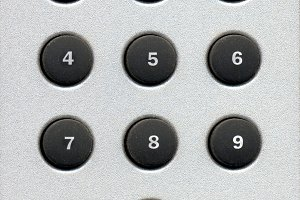 number buttons keypad