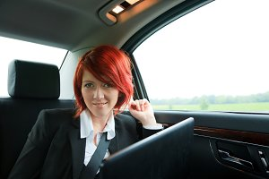 Businesswoman On The Road