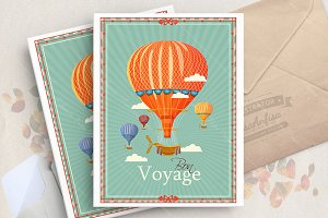 Air balloon poster