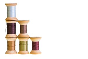 Stack of thread spools