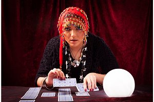 Crazy Fortune Teller With CArds