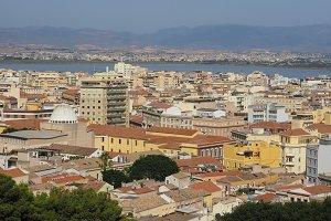 Aerial view of Cagliari