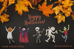 Halloween Set Characters