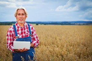 Farmer Standing In A Cereal Field