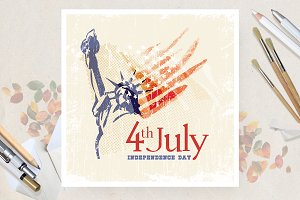 Independence day of USA the 4th July