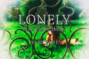 Lonely man or woman dramatic set