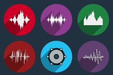 Music soundwave icons