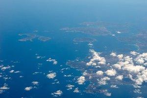 Aerial view of Sardinia