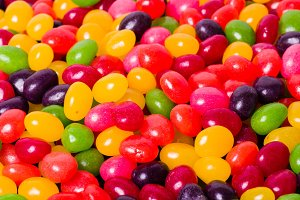 Background of jelly beans