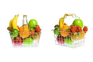 Shopping Basket With Fruit