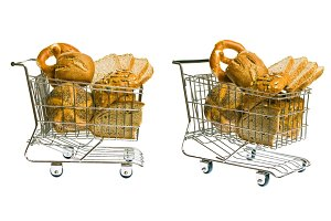 Shopping Cart With Bread