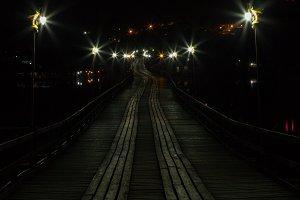 Bridge at night.