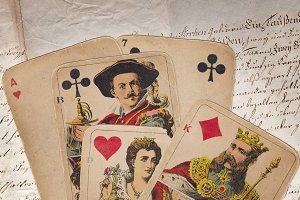 antique skat game cards