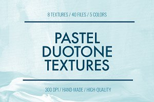 Duotone Paint Textures + Backgrounds