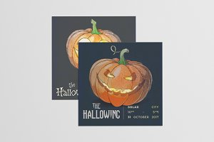 Halloween Flyer and Social Media Set