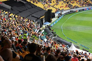 Cricket Stadium and Viewers