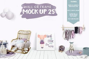 Kids Room Wall/Frame Mock Up 25