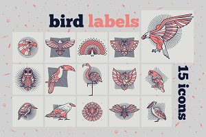 Bird Labels Set