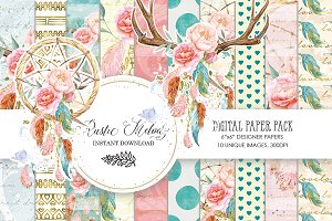 DREAMCATCHER DIGITAL PAPER PACK