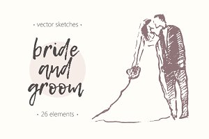 Happy brides and grooms