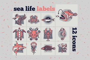 Fish Labels Set