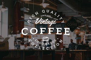Vintage Coffee Logo Badges Vol. 3