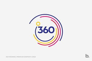 360 Degrees Circle Company Logo