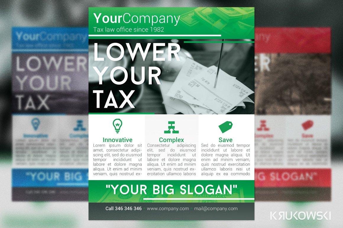 Tax office flyer flyer templates creative market fandeluxe Images