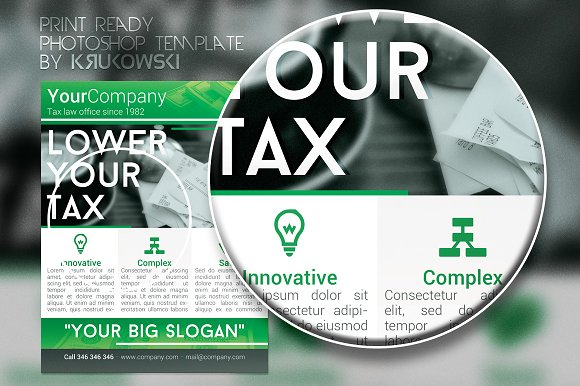 Tax office flyer flyer templates creative market fandeluxe Image collections