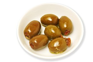 olives stuffed isolated