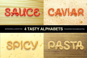 Tasty letters font