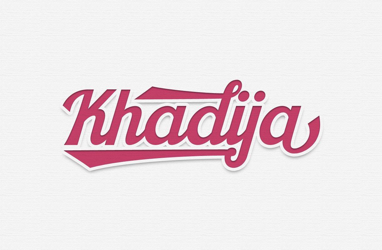 Khadija Script Script Fonts