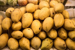 yellow Mango on the counter at the market