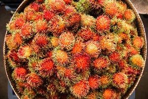 Rambutan on the counter market