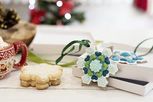 Christmas cookies - snowflakes