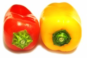peppers red and yellow