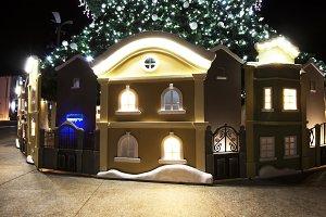 Small houses Christmas Tree