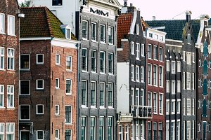 Amsterdam Attractions - houses on the Amstel River